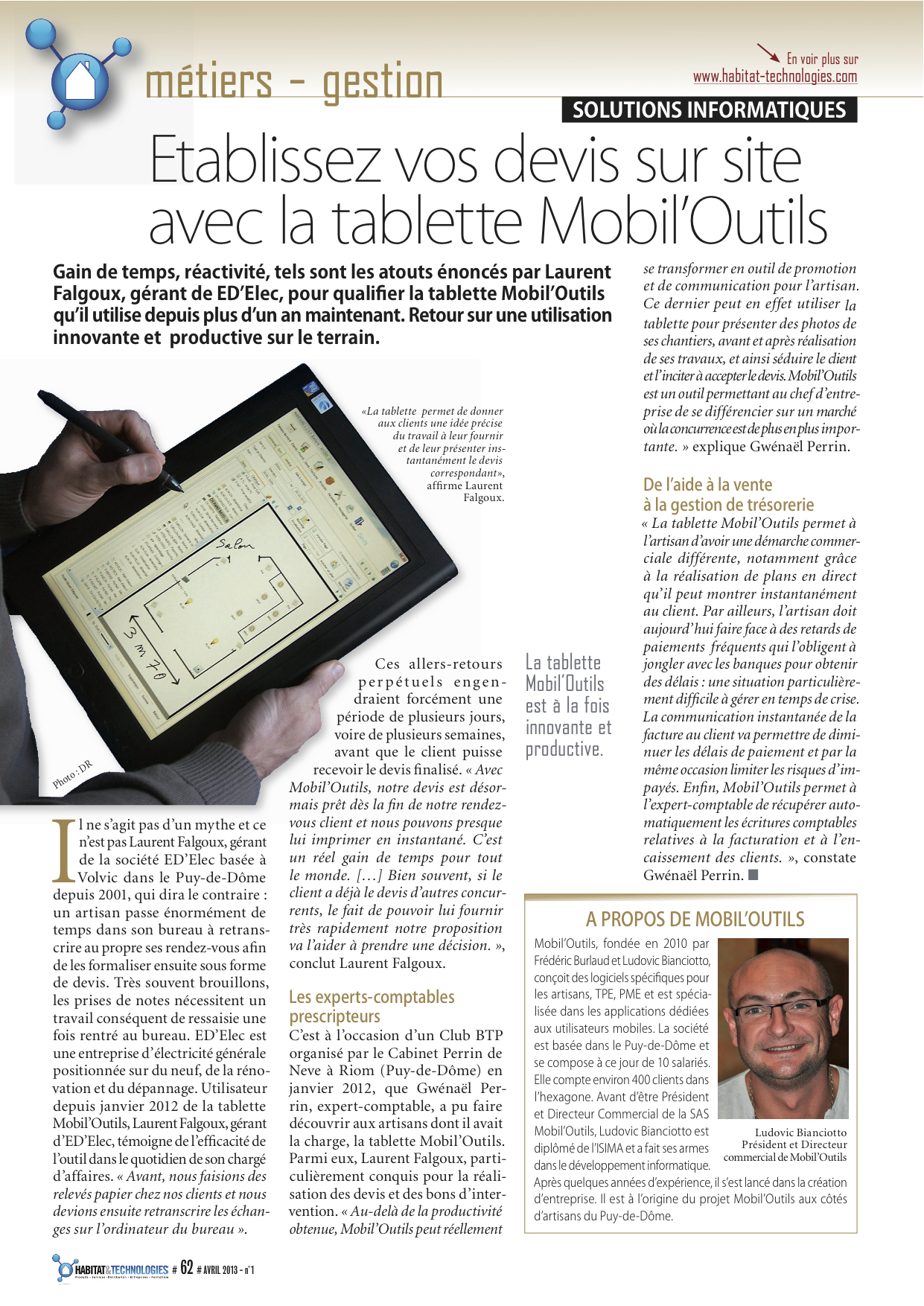 Article d'Habitat & Technologies